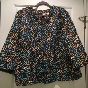 Linen plus size jacket